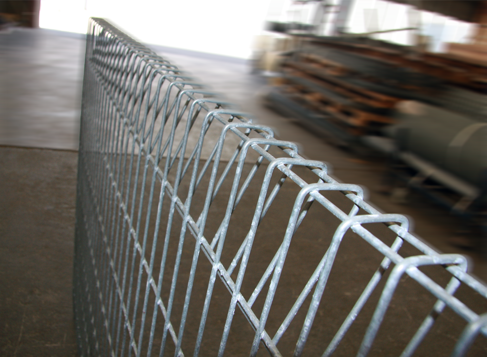 Roll Top Rose Barra Galvanised Fence Panel 10 08 Wire