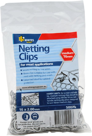WIRE NETTING CLIPS